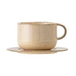 Bloomingville Kaffeetasse mit Unterteller Nugga 25 cl