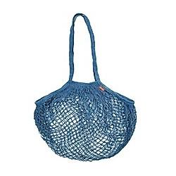 Cotton Mesh Bag - Blue