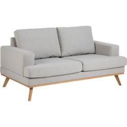 Sofa Nord 2 Sitzer Couch Garnitur Sofagarnitur Polstersofa Couchgarnitur grau