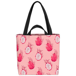 VOID Henkeltasche (1-tlg), Drachenfrucht Obst Muster Obst Drachen Frucht exotisch tropisch Essen