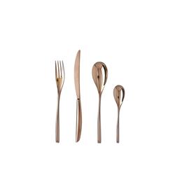 sambonet Besteck-Set Bamboo Edelstahl/PVD Kupfer Besteck 24-tlg., Edelstahl/PVD Kupfer