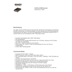 AV Konverter LINDY Konverter SDI (3G) nach HDMI [ - ]