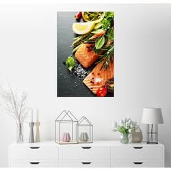 Posterlounge Wandbild, Lachsfilet mit Gewürzen 40 cm x 60 cm