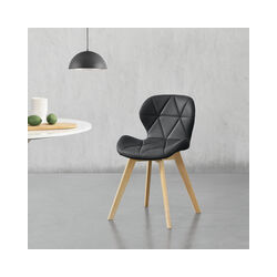 Lot de 6 Chaises de Salle à Manger Design Siège Cuisine Similicuir Pieds Solides en Hêtre 81 x 57 x