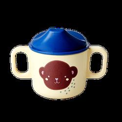 Rice Kindertasse Melamin Blau
