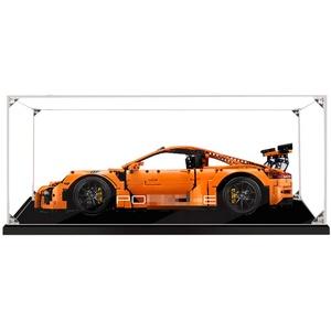 FADF Acrylic Vitrine für Lego Porsche 911 GT3 RS, Schaukasten Staubdicht Display Case Kompatibel Mit Lego 42056 (Ohne Lego Set)