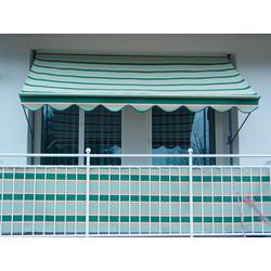 Angerer Freizeitmöbel Klemmmarkise, grün-beige, Ausfall: 150 cm, versch. Breiten grün Klemm-Markisen Markisen Garten Balkon Klemmmarkise