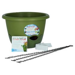 Plastia Mareta Blumenampel 30 grün / grün mit Erdbewässerung