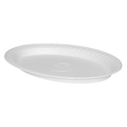 Thermoteller oval, weiß 29,5 x 21 cm,  25 Stk.
