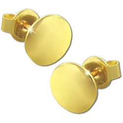 GoldDream Paar Ohrstecker GDO5187Y GoldDream Gold Ohrringe Circle Ohrstecker (Ohrstecker), Damen Ohrstecker Circle aus 333 Gelbgold - 8 Karat, Farbe: gold