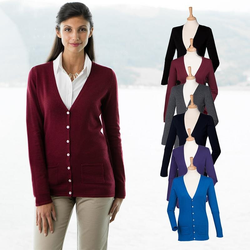 Damen V-Neck Cardigan | Henbury