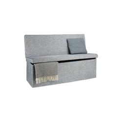 relaxdays Sitzhocker Faltbarer Sitzhocker mit Lehne XL grau