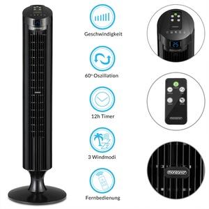 Monzana Turmventilator FERNBEDIENUNG Ventilator Standventilator Klimaanlage