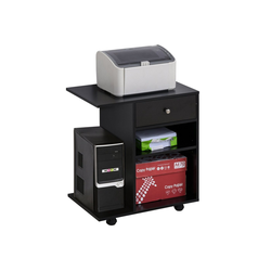 Vinsetto Rollcontainer Mobile Büroschrank schwarz