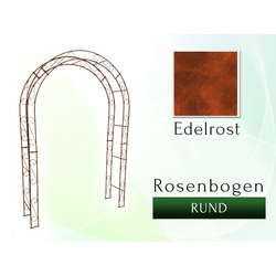 Rosenbogen Pergola Metallrosenbogen Gartenbogen Rosensäule  RUND 1,80 m