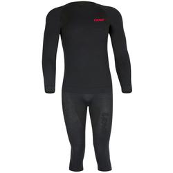Lenz Merino 3/4 Functionele ondergoedset, zwart, L XL