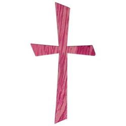 Rayher Wachsmotiv Kreuz pink 1 St.
