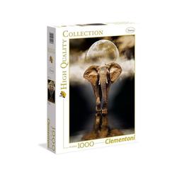 Clementoni® Puzzle Clementoni 39416 - High Quality Collection - Der Elefant Puzzle, 1000 Teile, 1000 Puzzleteile