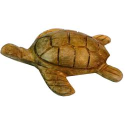 Guru-Shop Dekofigur Geschnitzte Deko Schildkröte in 2 Größen 8 cm x 3 cm x 7 cm