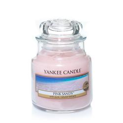 YANKEE CANDLE Kleine Kerze PINK SANDS 104 g Duftkerze