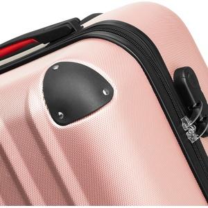 Hartschalenkoffer und Beauty-Case Set 4-tlg. - roségold