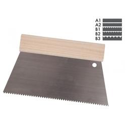 STORCH Trapez-Zahnspachtel B1, 250 mm, mit Holzgriff