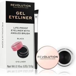 Makeup Revolution Gel Eyeliner Pot Gel-Eyeliner mit Pinselchen Farbton Black 3 g