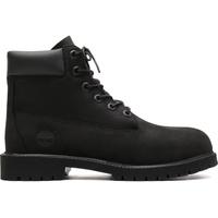 Timberland Unisex-Kinder 6-Inch Premium Waterproof Boot Klassische Stiefel, Schwarz (Black Nubuck), 32.5 EU
