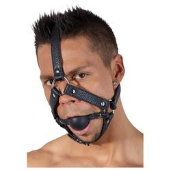 Bad Kitty Fesselgurt Ballknebel mit Kopfgeschirr Mundknebel Riemen Bondage BDSM