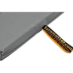 Geräteturnmatte mit Trageschlaufen grau - 200 x 100 x 8 cm