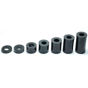 M6 Kunststoff-Abstandshalter für Schraube/Rohr/Unterlegscheibe, 8mm, Schwarz, Packung mit 10