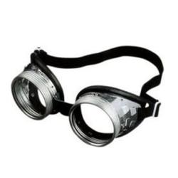 BigDean Brille Schraubringbrille 717 G Klar Durchsichtig Retro Oldschool Motorradbrille Schweißerbrille Arbeitsschutzbrille