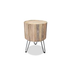 MÖBEL IDEAL Tisch Ella, aus Teak Massivholz - Ø 33 x 47 cm