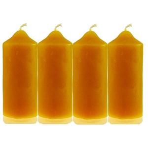 4 Stk.Kerzenstumpen 115/45mm 100% Bienenwachs Stumpen Bienenwachskerzen Adventskerzen