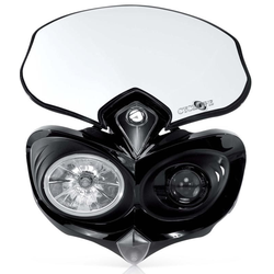 Acerbis Cyclope Headlight Koplamp, zwart