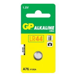 GP Battery A76 Batterie LR44 Alkalisch 110 mAh (05076AC1)