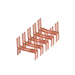 BigDean Wandhalter Blumenkastenhalter Standard H−Form Kasten Halter Balkonkastenhalter, 5-St. braun