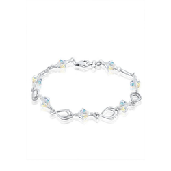 Elli Armband Kristalle Perlen 925 Silber 19 cm