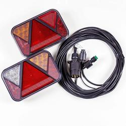 Rückleuchten Satz: Rückleuchten LED Fristom FT-270 + 4,5 m 7-poliger Kabelbaum