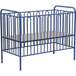 Kinderbett Vintage 110 aus Metall, blau