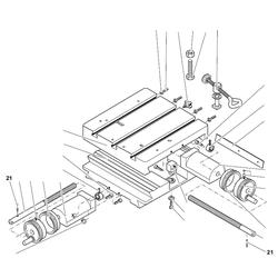 PROXXON 20150-21 Stift für Kreuztisch KT150