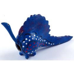 Guru-Shop Dekofigur Wackelkopf Tier, Wackeltier - Drache blau