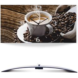 Wanduhr »Heißer Kaffee - dampfender Kaffee«, Wanduhren, 67717703-0 braun braun