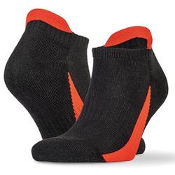 Sneaker Sports Socks (3 Paar Pack) | Spiro Black/Red L/XL (42/46)