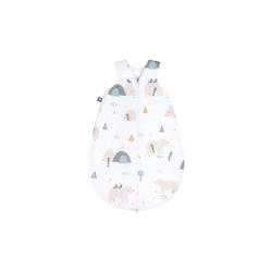 Julius Zoellner Schlafsack in weiß mit Muster Mountain Bear, Größe 50