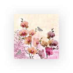 Ambiente Papierserviette Orchideen, (20 St), 33 cm x 33 cm