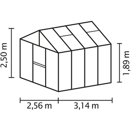 Vitavia Zeus 8100 Alu schwarz HKP 16 mm 8,1 m²