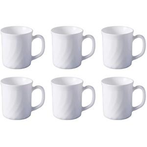 Luminarc Serie 'Trianon' Kaffeebecher 0,29 l, weiß (Inhalt 6 Stck.)