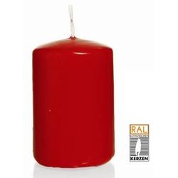 Kerzen Stumpenkerze Wiedemann Kerzen Farbe rot 150X80mm 6 Stück