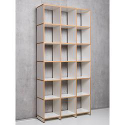 Regalsystem Mocoba Premium Mocoba weiß, Designer Klaus Kiefer, 218x107x32 cm